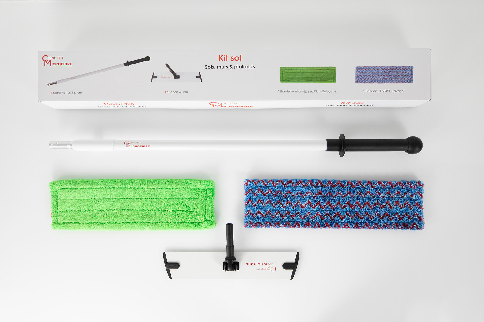 PRO FLOOR KIT - Concept Microfibre cleaning and training equipment
